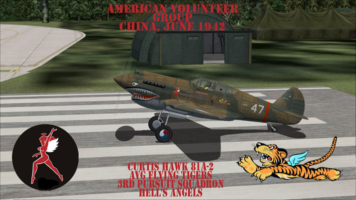Curtis 81A-2 Hawk Flying Tiger 3rd Pursuit Squadron Hell's Angels
