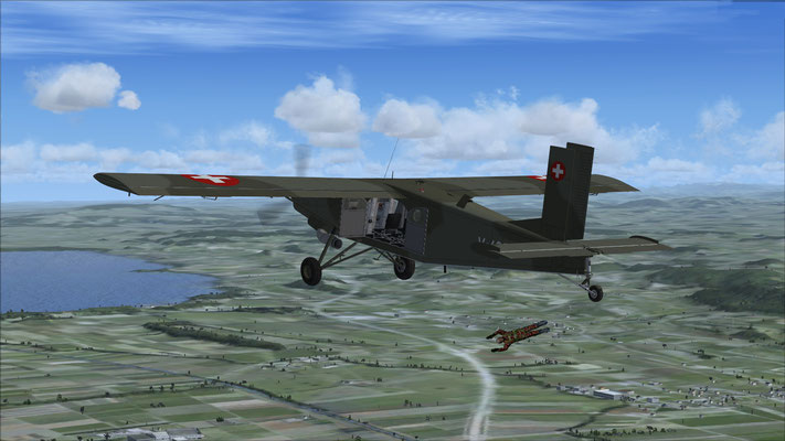Pilatus Porter PC-6 V-633 Swiss Air Force & Paratroopers for FSX