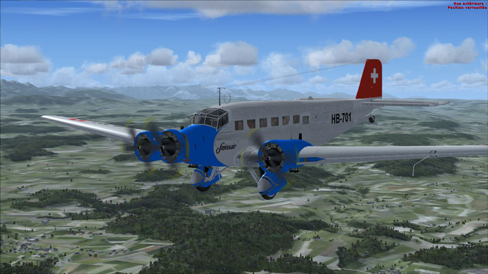 Junkers 52-3m serial number 6595 Swissair for FSX