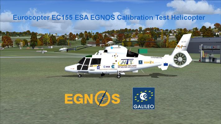 Eurocopter EC155 ESA EGNOS Calibration Test Helicopter for FSX