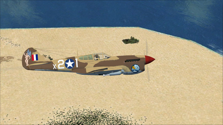 Curtis P-40F 85th Fighter MTO Hell's Angels repaint for FSX