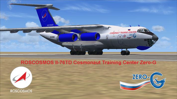 ROSCOSMOS Il-76TD Cosmonaut Training Center Zero-G for FSX