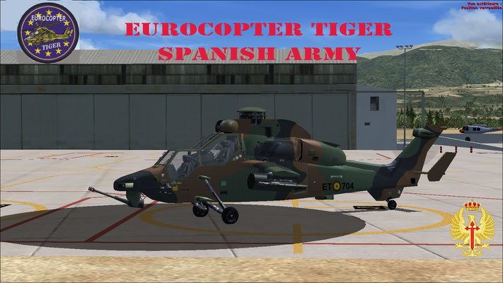 Eurocopter Tiger Spanish Army repaint for FSX