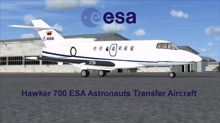 Hawker 700 ESA Astronauts Transfer Aircraft for FSX