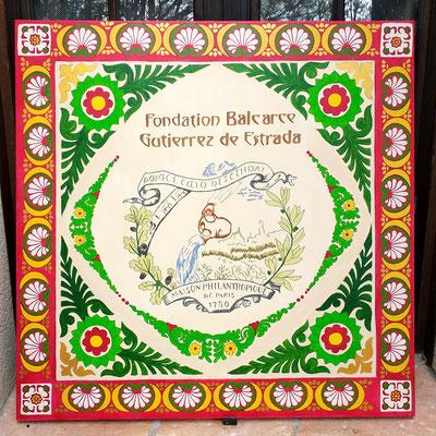 "mandala ""Fondation Gutierrez Brunoy"" 100x100 cm"