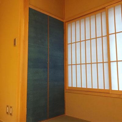 能登仁行和紙 壁紙 草木染紙 藍染 自然素材