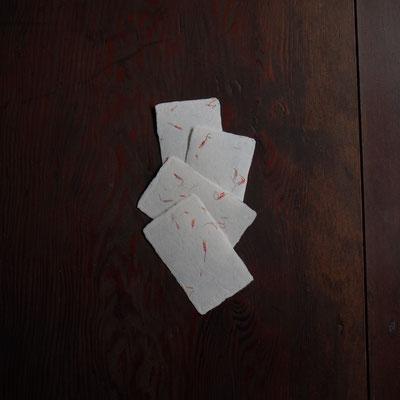 能登仁行和紙 名刺 紅花入紙 自然素材