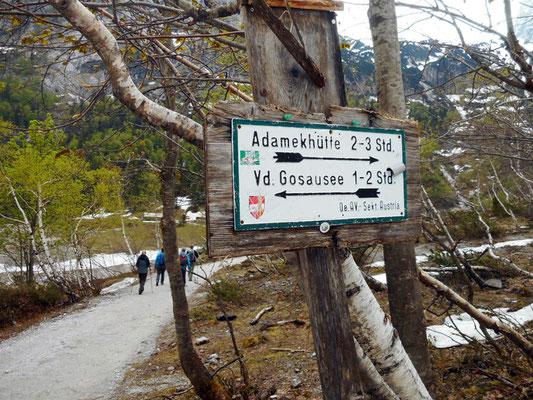 Richtung Adamekhütte