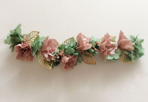 Pia (flores de seda y flores preservadas)