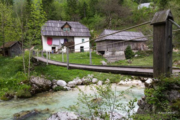 Hängebrücke in Slowenien