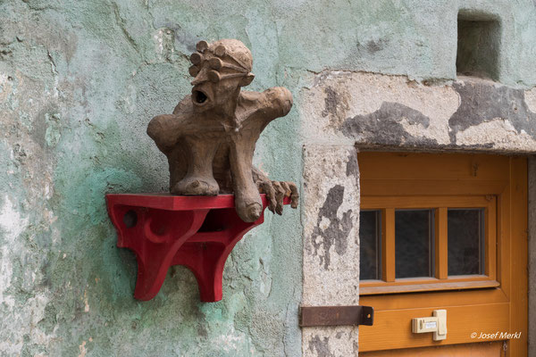 eine Dame in Cesky Krumlov, Tschechien