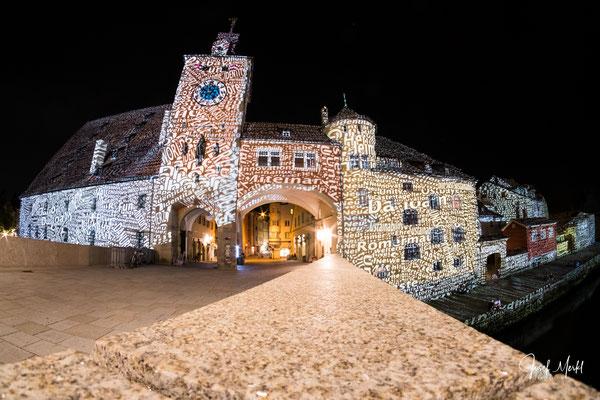 Regensburg, Licht-Show, Juni 2018, Fish-Eye-Objektiv