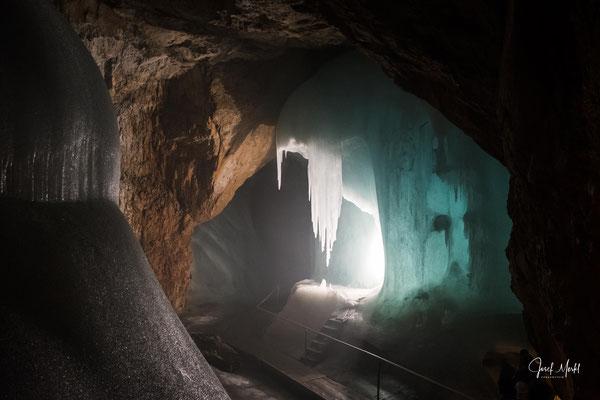 Österreich: Eisriesenwelt in Werfen, angeb. größte Eishöhle der Welt