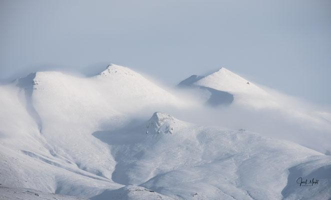Berge bei Mosfellsbær, Nähe Reykjavík