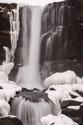Wasserfall Oxararfoss im Þingvellir-Nationalpark
