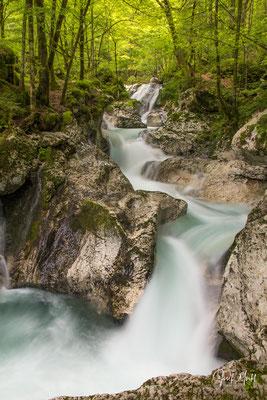 bei Lepena, Soca-Zufluss, Slowenien
