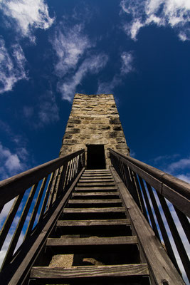 Stairway to Heaven. Burgruine Weißenstein, Steinwald