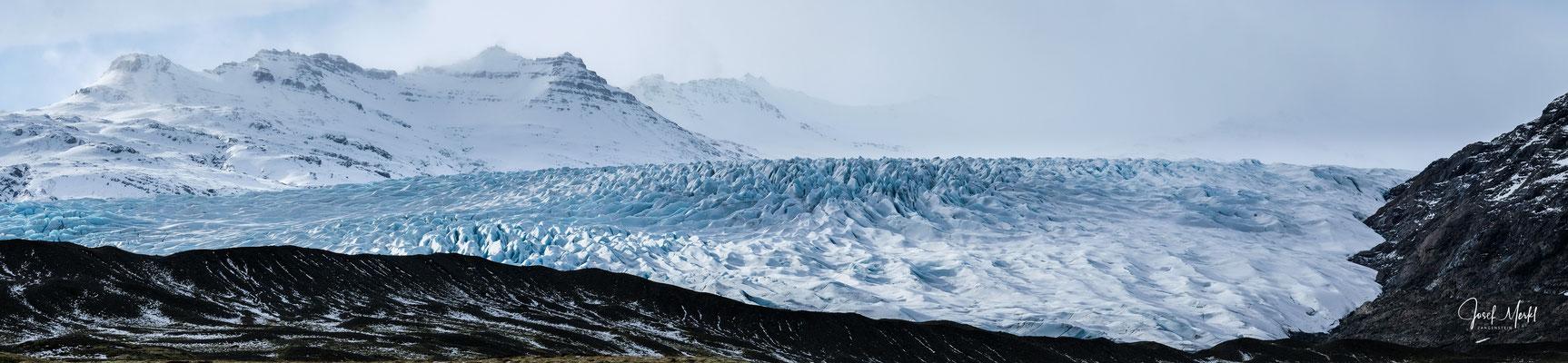Gletscherzunge Fláajökull des Vatnajökull (größter Gletscher Europas)