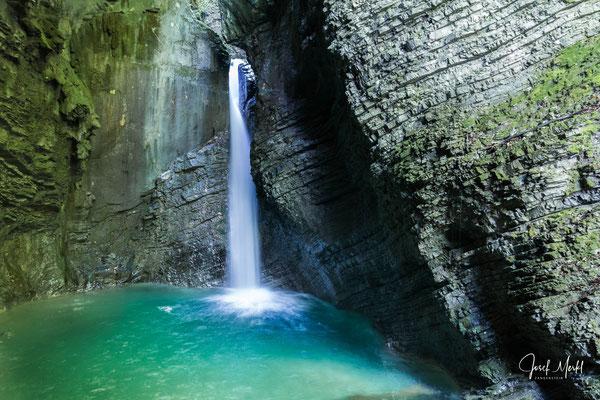 Kozjak Wasserfall, bei Kobarid, Slowenien