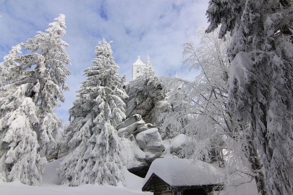 Bayerischer Wald: Waldschmidt-Denkmal am Großen Riedelstein (1132m), Kaitersberg