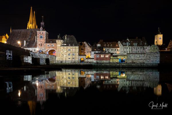Regensburg, Licht-Show, Juni 2018
