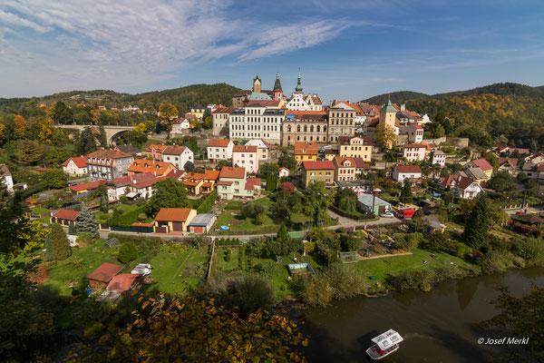 Loket am Fluss Eger, Tschechien
