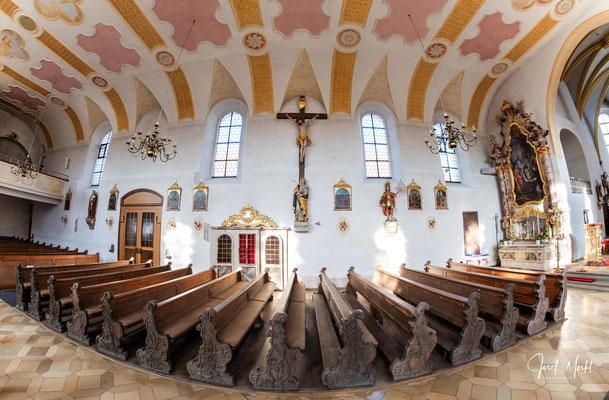 Schwarzhofen: Pfarrkirche Maria vom Siege, Fish-Eye-Objektiv