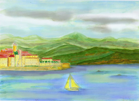 5.15.- Korsika - Hafeneinfahrt Ajaccio    /    150.- € als Leinwanddruck)