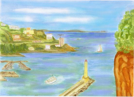 5.16.- Frankreich - Nizza Hafen        150.- € als Leinwanddruck)