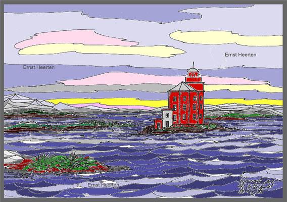 3.8.-Kjeungskjaer-roter-Leuchtturm-Stokkesunde       /           200.- €