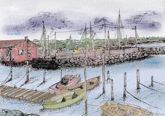 4.11. - Dänemark - Hafen von Öster Hurup  /   120,- €