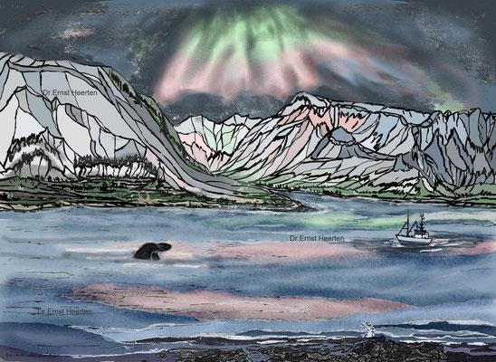 3.12. - Lofoten - Einfahrt Oskfjord    /    200,- €