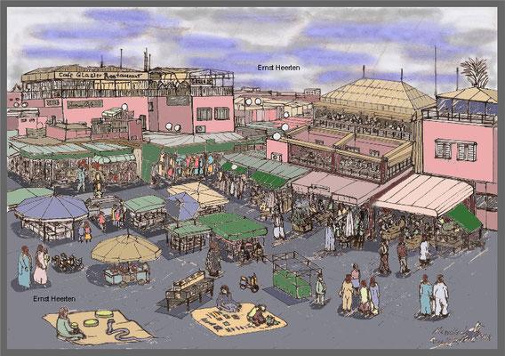 9.1.- Marrakech-gauklerplatz              /           200.- €