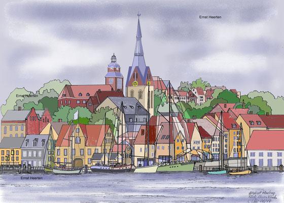 4.6 - Flensburg - alter Hafen / Altstadt  /    200.- €