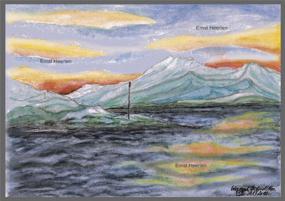 3.2.-aquarell-Einfahrt-in-den-Öksfjord           /            250.- €