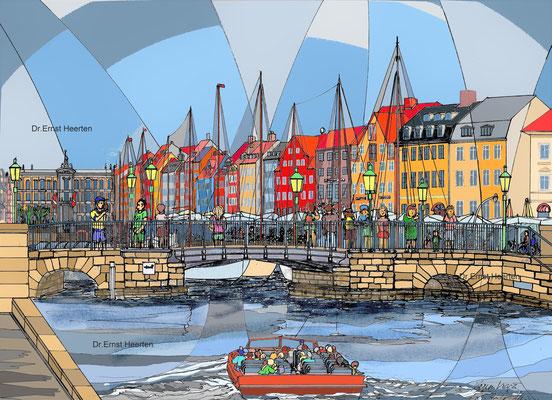 4.15. - Alter Hafen Kopenhagen (Museumschiffe)  /  250.- €