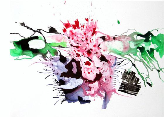 Zeichnung - Vom Fluss aus