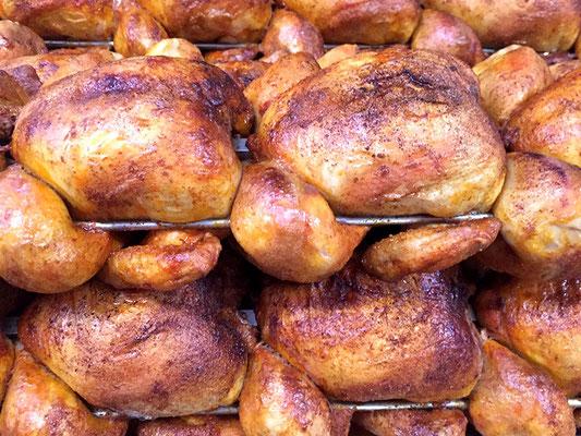 frisch gegrillte Hähnchen