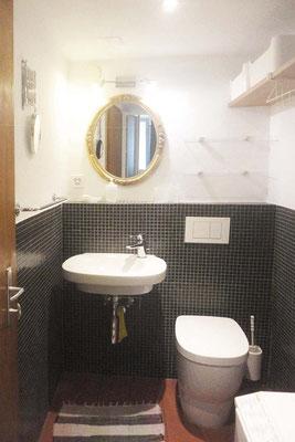 Hier befindet sich auch das kleine Badezimmer ...