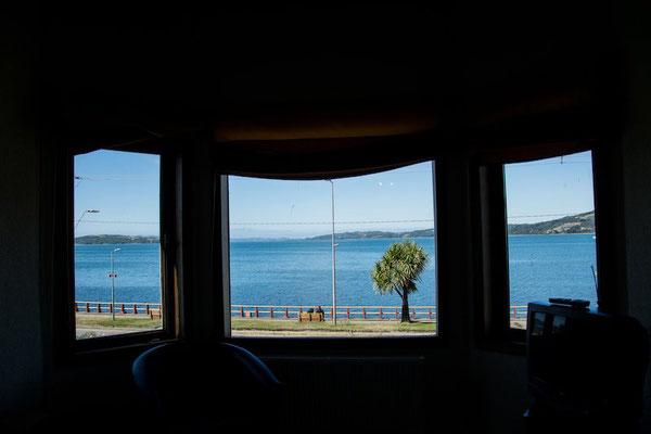 Zimmer mit Blick auf die Bucht von Ancud