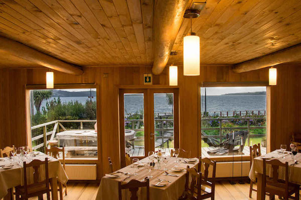 Restaurant directly at the sea promenade of Ancud