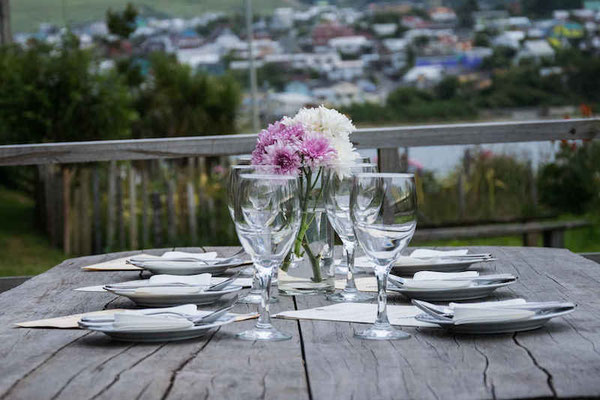 Terrace with view over the Bay of Ancud