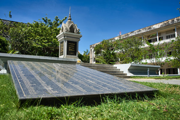 Monument in S21 museum in Phnom Penh