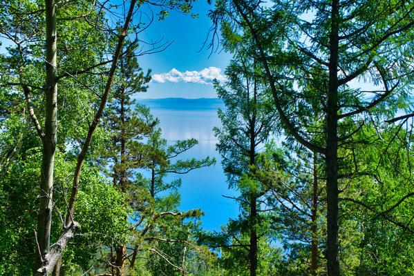 Uitzicht tijdens de Great Baikal Trail