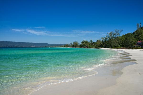 Prachtige stranden op Koh Rong, Cambodja
