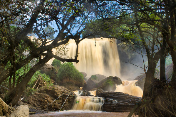 Elephant waterval bij Da Lat, Vietnam