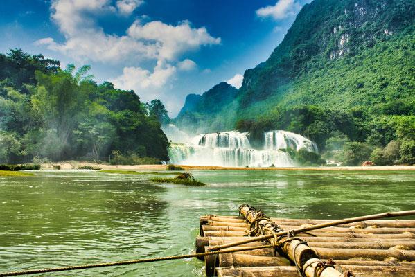 Ban Gioc waterval, Cao Bang, Vietnam