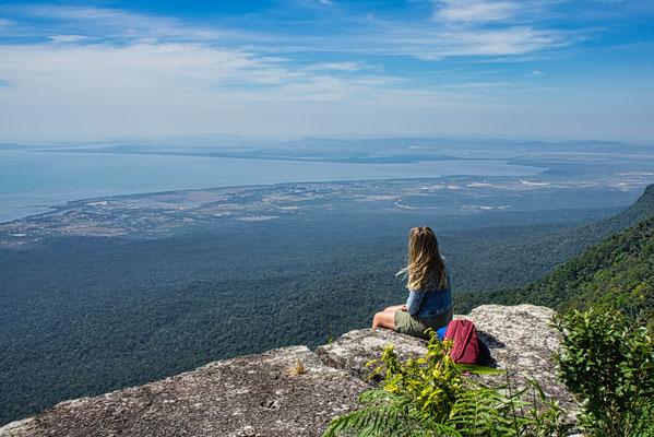 Uitzicht vanaf Bokor vlakbij Kampot