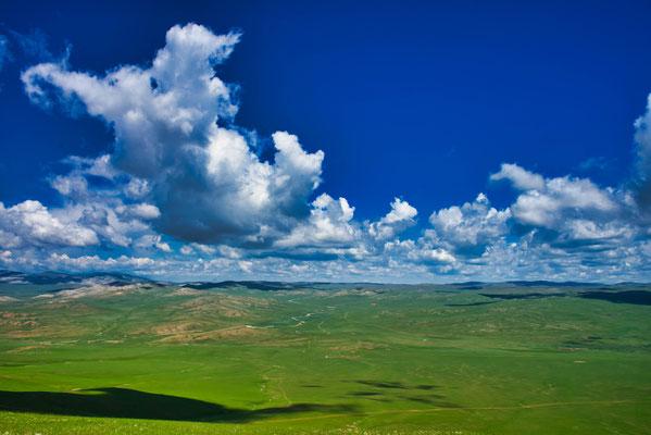 Typisch landschap in Mongolië