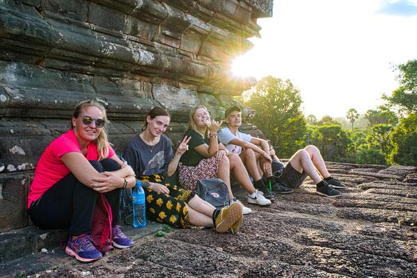 zonsondergang bij Angkor Wat